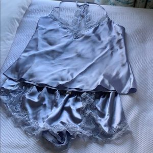 In Bloom silk pajama set